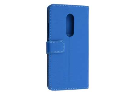 Synthetic Leather Wallet Case with Stand for ZTE Axon 7 - Blue Leather Wallet Case