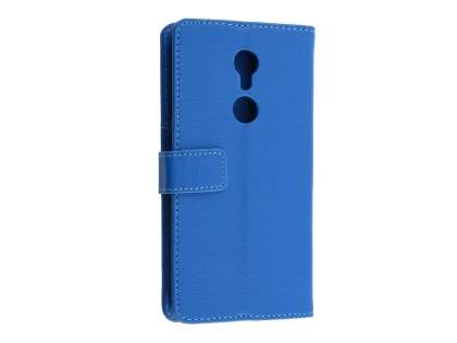 Synthetic Leather Wallet Case with Stand for ZTE Axon 7 Mini - Blue Leather Wallet Case