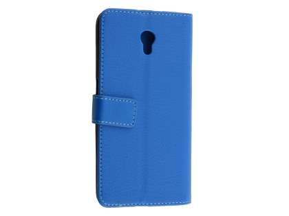 Synthetic Leather Wallet Case with Stand for ZTE Blade V7 - Blue Leather Wallet Case