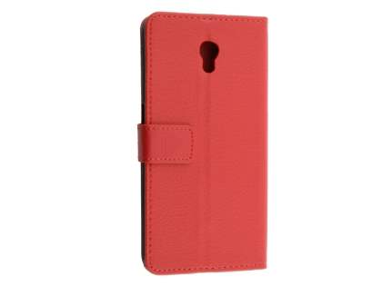 Synthetic Leather Wallet Case with Stand for ZTE Blade V7 - Red Leather Wallet Case