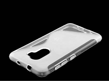 Wave Case for HTC One X10 - Frosted Clear/Clear