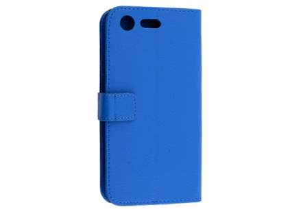 Slim Synthetic Leather Wallet Case with Stand for Sony Xperia XZ Premium - Blue Leather Wallet Case
