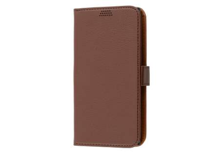 Slim Synthetic Leather Wallet Case with Stand for Sony Xperia XZ Premium - Brown