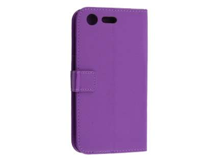 Slim Synthetic Leather Wallet Case with Stand for Sony Xperia XZ Premium - Purple Leather Wallet Case