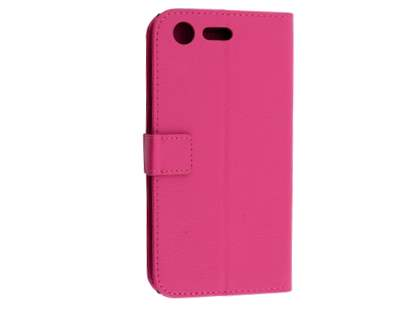 Slim Synthetic Leather Wallet Case with Stand for Sony Xperia XZ Premium - Pink Leather Wallet Case