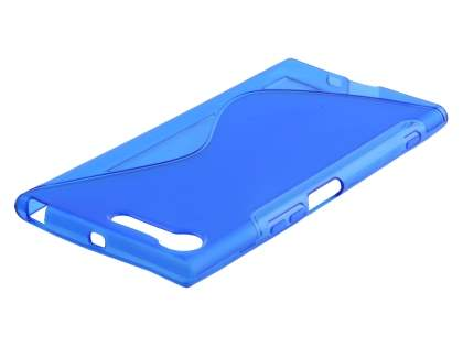 Wave Case for Sony Xperia XZ Premium - Frosted Blue/Blue Soft Cover