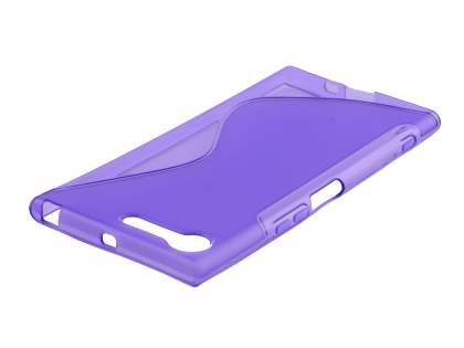 Wave Case for Sony Xperia XZ Premium - Frosted Purple/Purple Soft Cover