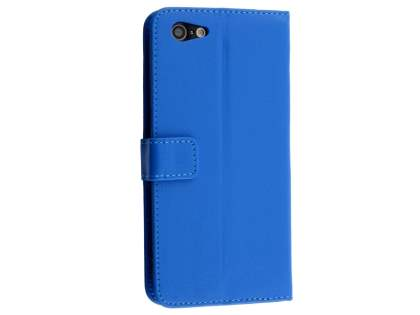 Slim Synthetic Leather Wallet Case with Stand for Oppo A57 - Blue Leather Wallet Case