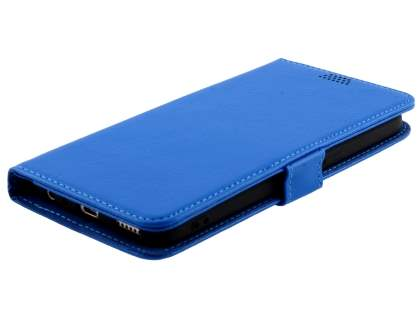 Slim Synthetic Leather Wallet Case with Stand for Oppo A57 - Blue