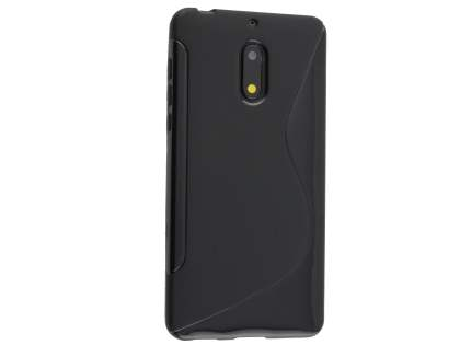 Wave Case for Nokia 6 - Frosted Black/Black Soft Cover