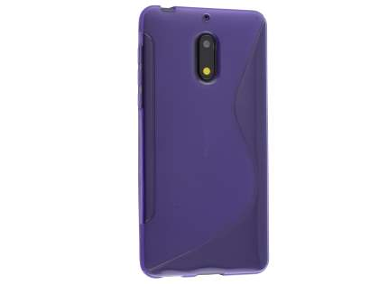 Wave Case for Nokia 6 - Frosted Purple/Purple Soft Cover