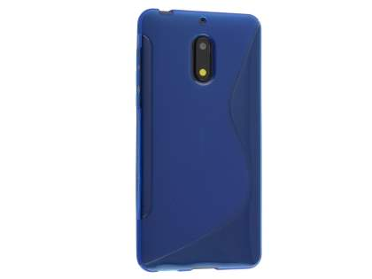 Wave Case for Nokia 6 - Frosted Blue/Blue Soft Cover