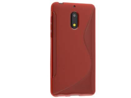 Wave Case for Nokia 6 - Frosted Red/Red Soft Cover