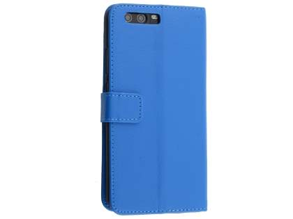 Synthetic Leather Wallet Case with Stand for Huawei P10 Plus - Blue Leather Wallet Case