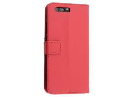 Synthetic Leather Wallet Case with Stand for Huawei P10 Plus - Red Leather Wallet Case