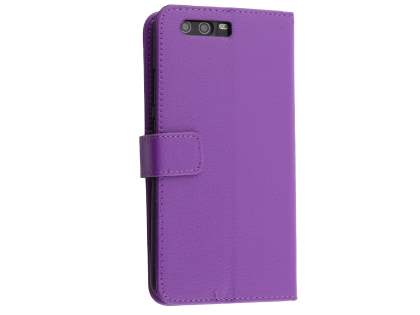 Synthetic Leather Wallet Case with Stand for Huawei P10 Plus - Purple Leather Wallet Case