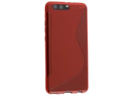 Wave Case for Huawei P10 Plus - Frosted Red/Red Soft Cover