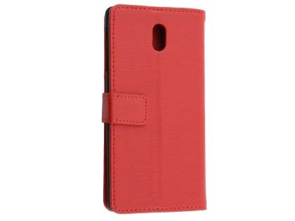 Synthetic Leather Wallet Case with Stand for Nokia 3 - Red Leather Wallet Case
