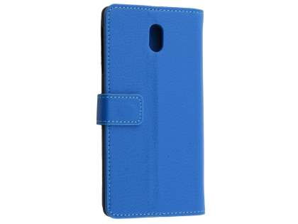 Synthetic Leather Wallet Case with Stand for Nokia 3 - Blue Leather Wallet Case