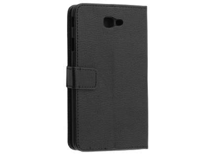 Synthetic Leather Wallet Case with Stand for Samsung Galaxy J7 Prime - Black Leather Wallet Case