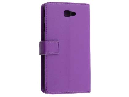Synthetic Leather Wallet Case with Stand for Samsung Galaxy J7 Prime - Purple Leather Wallet Case