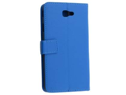 Synthetic Leather Wallet Case with Stand for Samsung Galaxy J7 Prime - Blue Leather Wallet Case