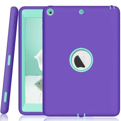 Rugged Impact Case for iPad 9.7 (2018/2017) - Purple/Mint Impact Case