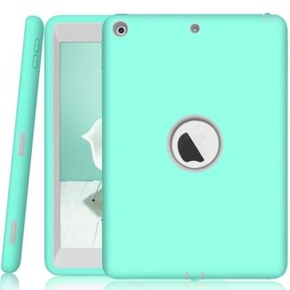 Rugged Impact Case for iPad 9.7 (2018/2017) - Mint/Grey Impact Case