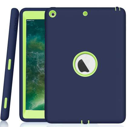 Rugged Impact Case for iPad 9.7 (2018/2017) - Navy/Lime Impact Case