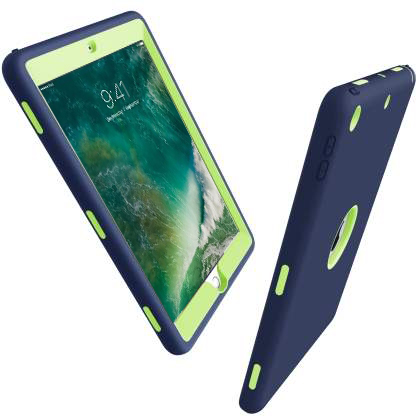 Impact Case for iPad 9.7 (2018/2017) - Navy/Lime