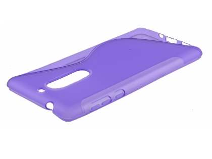 Wave Case for Nokia 5 - Frosted Purple/Purple Soft Cover