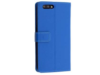 Slim Synthetic Leather Wallet Case with Stand for Oppo R11 - Blue Leather Wallet Case