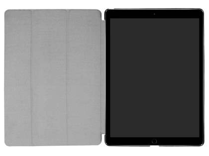 Premium Slim Synthetic Leather Flip Case with Stand for iPad Pro 12.9 (2017) - Black