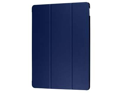 Premium Slim Synthetic Leather Flip Case with Stand for iPad Pro 12.9 (2017) - Navy