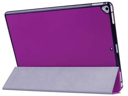Premium Slim Synthetic Leather Flip Case with Stand for iPad Pro 12.9 (2017) - Purple Leather Flip Case