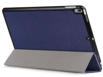 Synthetic Leather Flip Case with Stand for iPad Pro 10.5 - Navy Blue Leather Flip Case