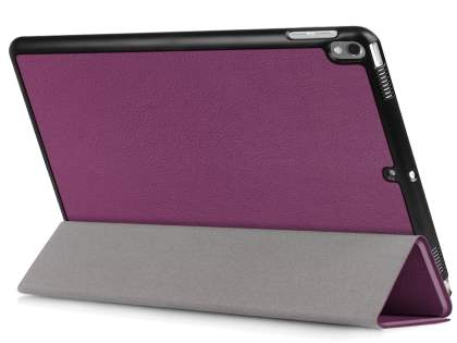 Synthetic Leather Flip Case with Stand for iPad Pro 10.5 - Purple Leather Flip Case