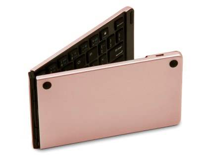 Foldable Bluetooth Mini Keyboard - Rose Gold