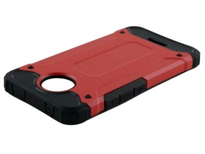 Impact Case for Motorola Moto C - Red/Black Impact Case