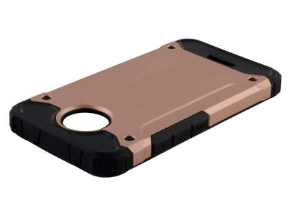 Impact Case for Motorola Moto C - Rose Gold/Black Impact Case