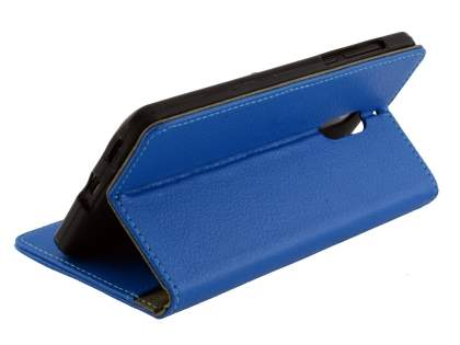 Synthetic Leather Wallet Case with Stand for Nokia 6 - Blue