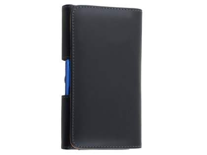 Smooth Synthetic Leather Belt Pouch for Nokia 5 - Classic Black Belt Pouch