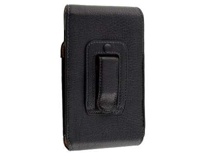 Textured Synthetic Leather Vertical Belt Pouch with Buckle (Bumper Case Compatible)