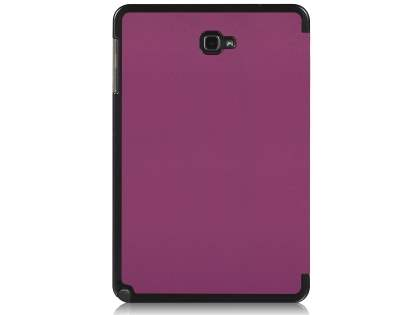 Premium Slim Synthetic Leather Flip Case with Stand for Samsung Galaxy Tab A 10.1 with S Pen - Purple Leather Flip Case