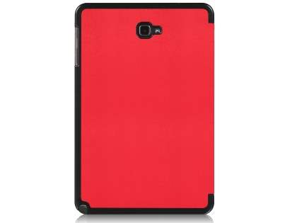 Premium Slim Synthetic Leather Flip Case with Stand for Samsung Galaxy Tab A 10.1 with S Pen - Red Leather Flip Case