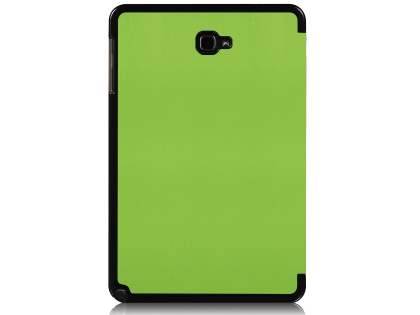 Premium Slim Synthetic Leather Flip Case with Stand for Samsung Galaxy Tab A 10.1 with S Pen - Green Leather Flip Case