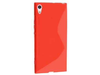 Wave Case for Sony Xperia XA1 Ultra - Frosted Red/Red Soft Cover