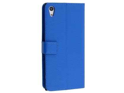 Slim Synthetic Leather Wallet Case with Stand for Sony Xperia XA1 Ultra - Blue Leather Wallet Case