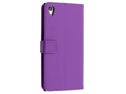 Slim Synthetic Leather Wallet Case with Stand for Sony Xperia XA1 Ultra - Purple Leather Wallet Case
