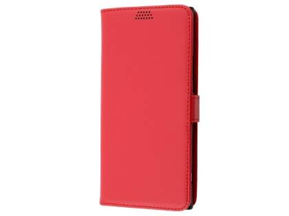 Slim Synthetic Leather Wallet Case with Stand for Sony Xperia XA1 Ultra - Red